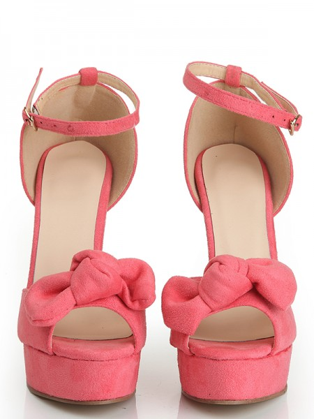 Wildleder Sandaleen Knots High Heels