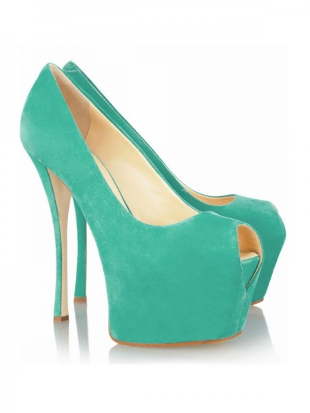 Damen Stiletto Heel Peep Toe Platform High Heels